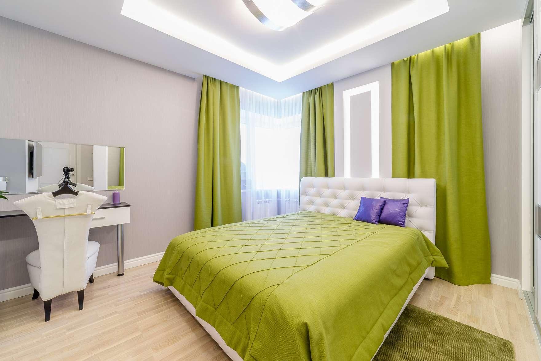 спальня в зеленых тонах варианты идеи
