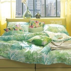 спальня в зеленых тонах виды
