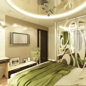спальня в зеленых тонах виды фото
