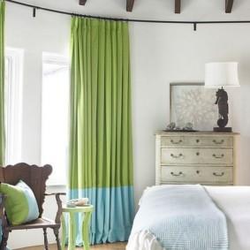 спальня в зеленых тонах виды идеи