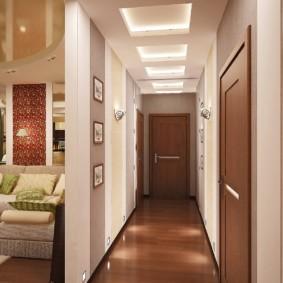 длинный коридор в квартире специальный дизайн