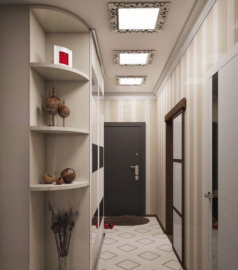 дизайн для узкого коридора варианты