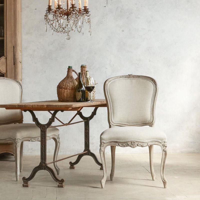 Деревянный стул в стиле прованс
