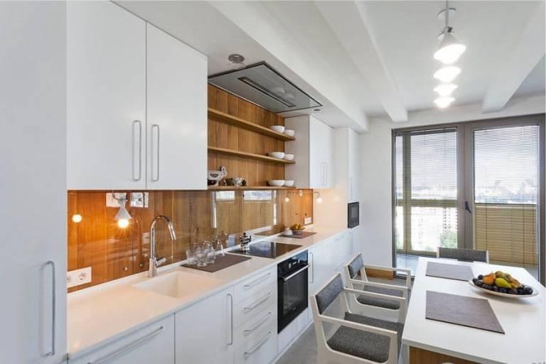расстановка мебели и техники на кухне небольшой площади