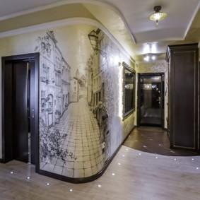 стены в прихожей декор фото