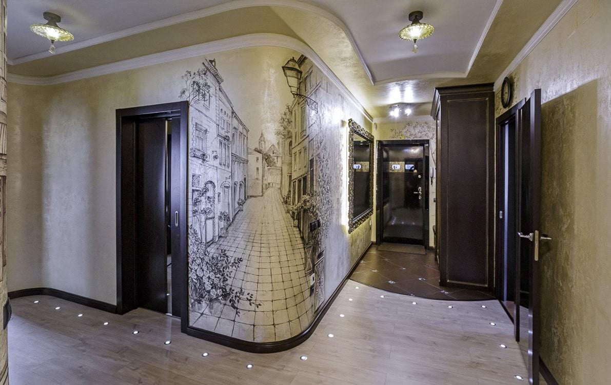 как украсить оштукатуренную стену в коридоре фото телеведущая