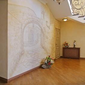 стены в прихожей фото декор
