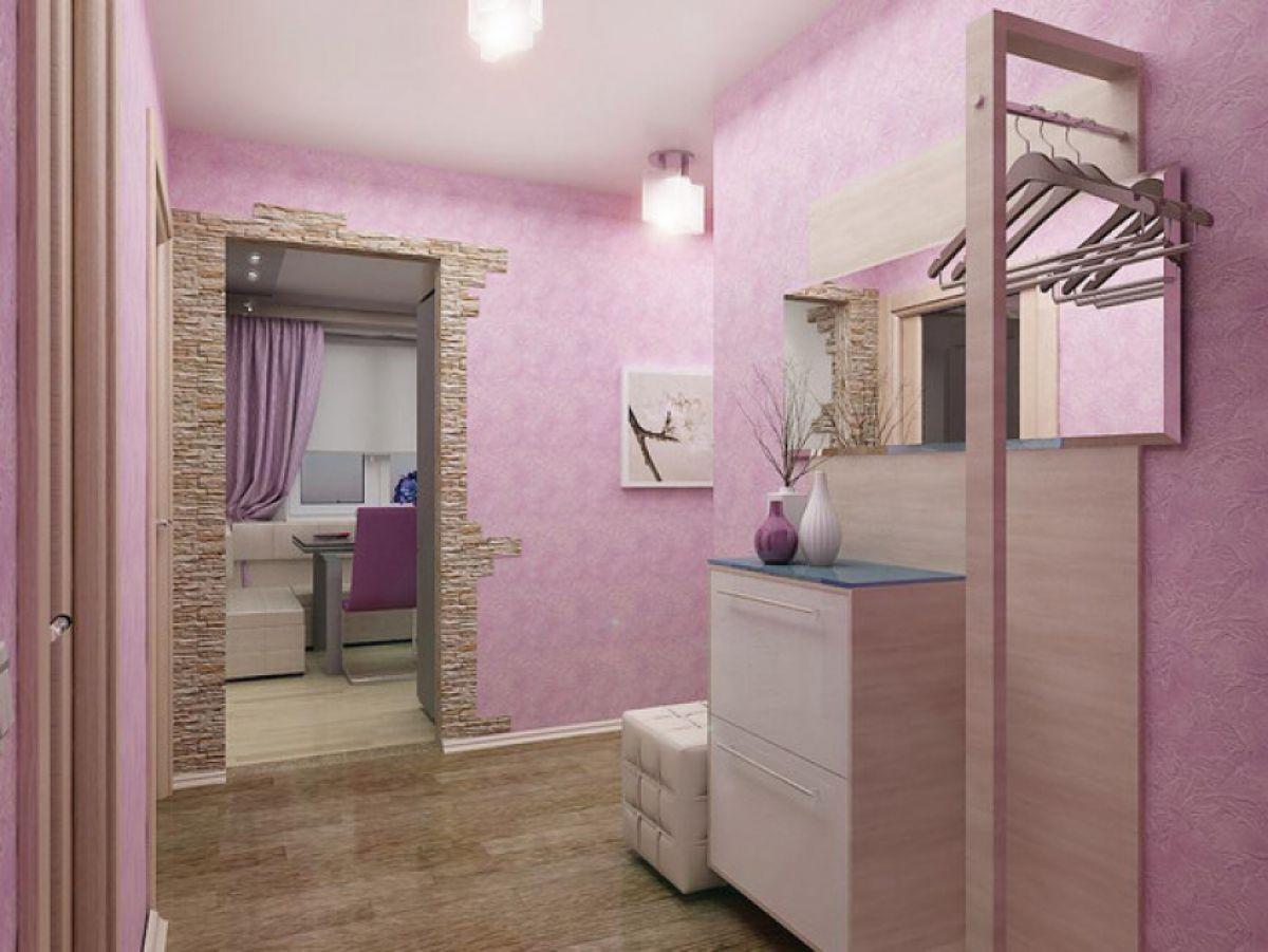 коридор в розовом цвете фото