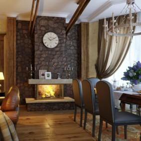 гостиная в стиле кантри декор