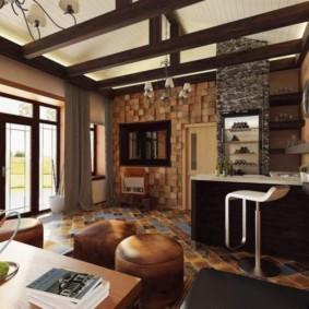 гостиная в стиле кантри декор идеи
