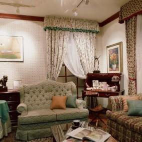 гостиная в стиле кантри дизайн фото