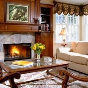 гостиная в стиле кантри фото декора