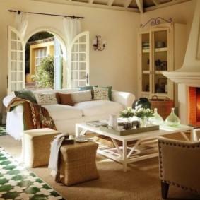 гостиная в стиле кантри идеи декора