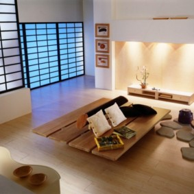 гостиная в стиле минимализм декор