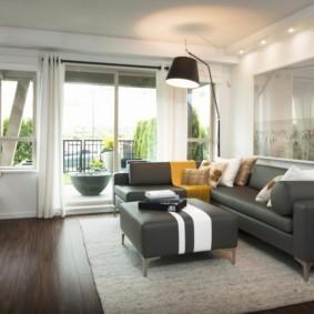гостиная в стиле минимализм интерьер