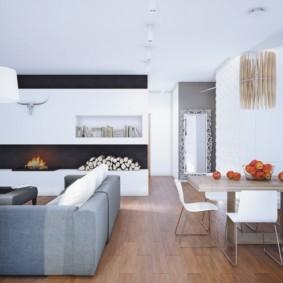 гостиная в стиле минимализм интерьер фото