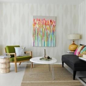 гостиная в стиле минимализм оформление