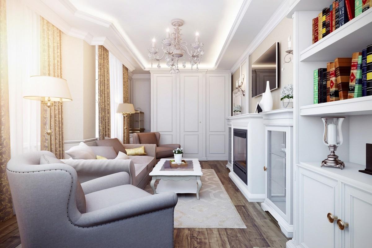 стиль неоклассика в интерьере квартиры фото дизайн