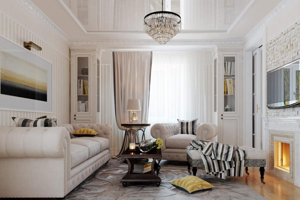 стиль неоклассика в интерьере квартиры оформление фото