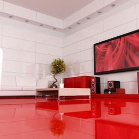 гостиная в стиле хай тек декор