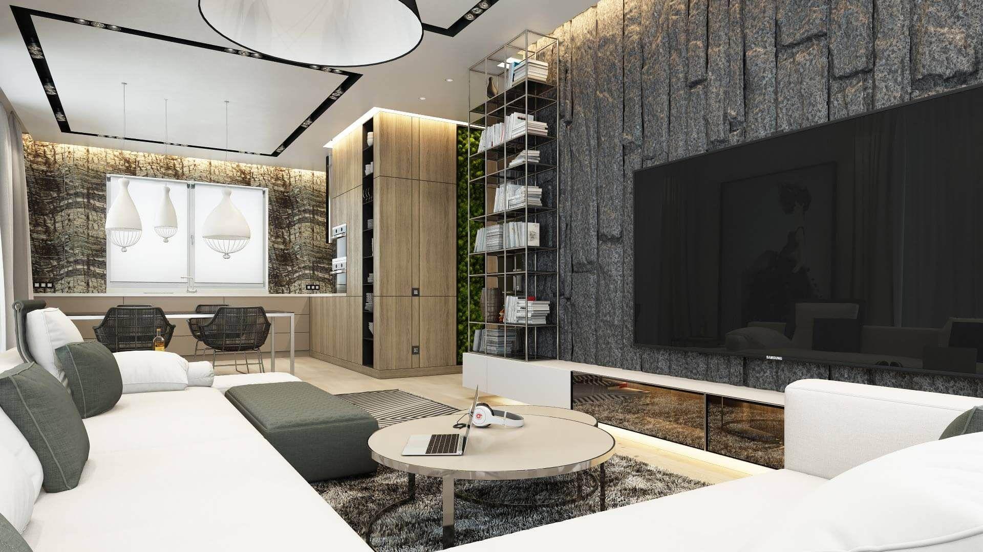 гостиная в стиле хай тек декор фото