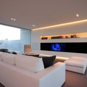 гостиная в стиле хай тек дизайн фото