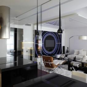 гостиная в стиле хай тек фото
