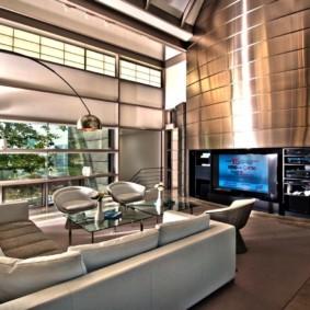 гостиная в стиле хай тек фото декор