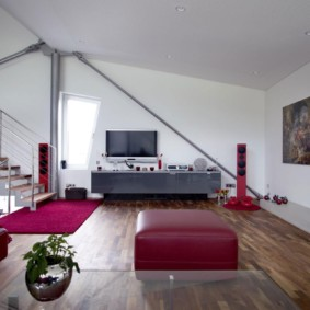 гостиная в стиле хай тек фото декора