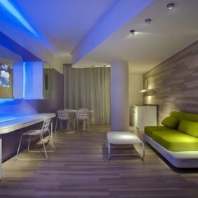 гостиная в стиле хай тек фото дизайн