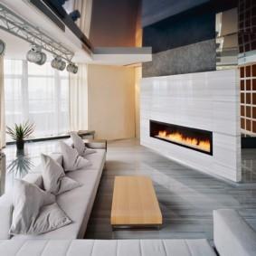 гостиная в стиле хай тек фото дизайна