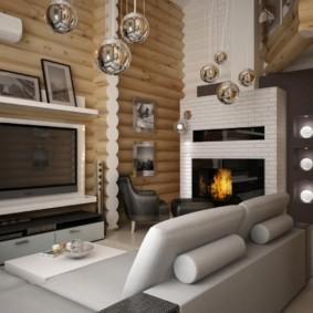 гостиная в стиле хай тек фото интерьер