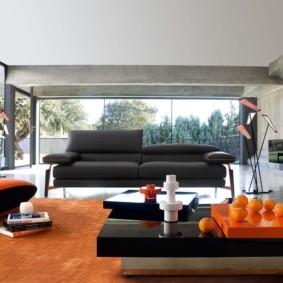 гостиная в стиле хай тек фото оформление