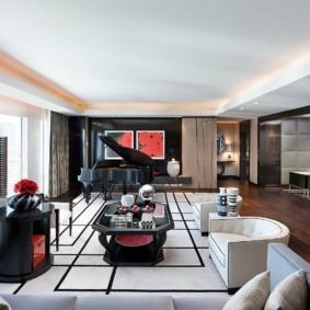 гостиная в стиле хай тек идеи интерьер