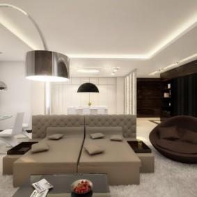 гостиная в стиле хай тек интерьер