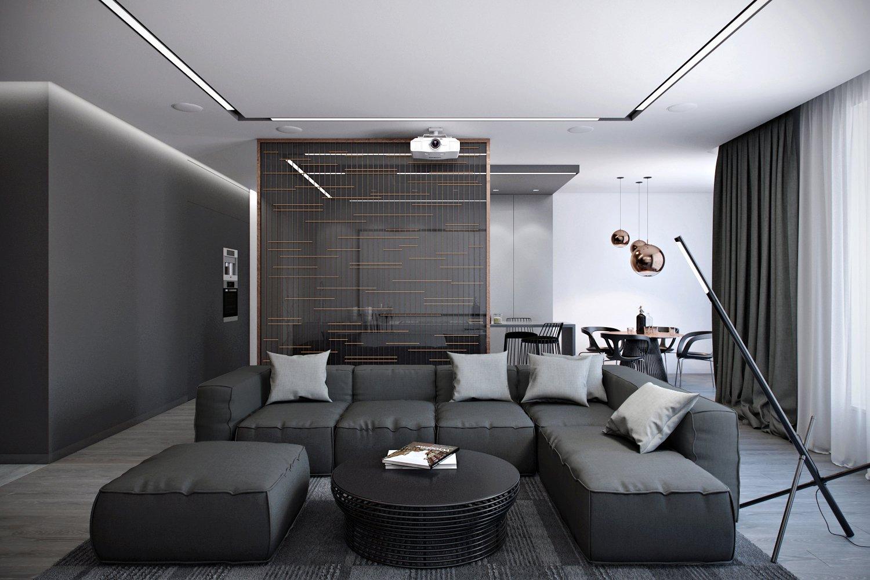 гостиная в стиле хай тек интерьер фото