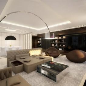 гостиная в стиле хай тек оформление