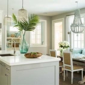 кухня в средиземноморском стиле светильники