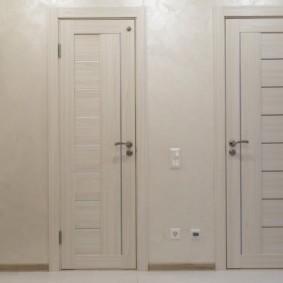 светлые двери в квартире виды декора