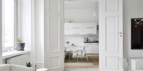 светлые двери в квартире идеи оформление