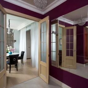 светлые двери в квартире оформление