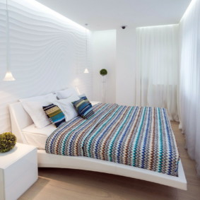 светлый дизайн спальни 12 кв м