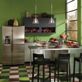 краска для кухни травяной оттенок