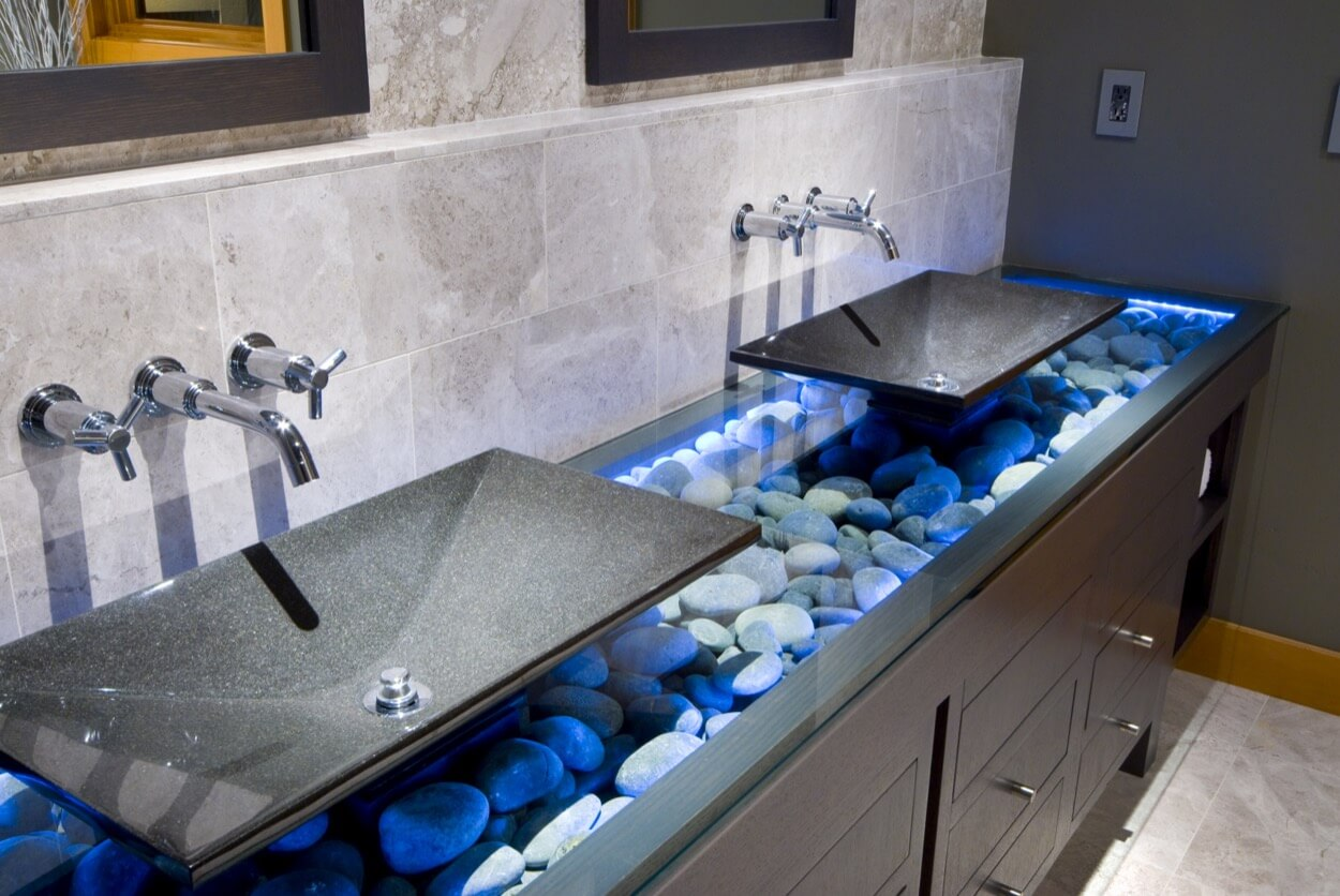 тумба для ванной декор идеи