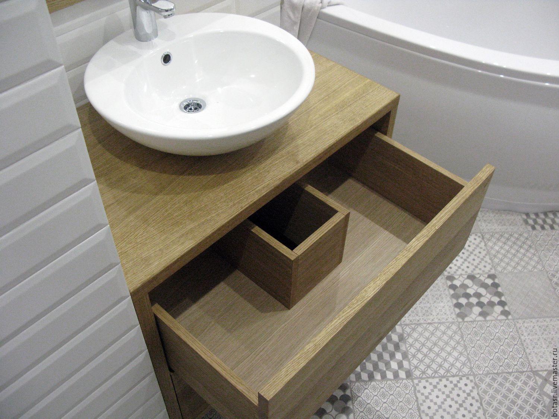 тумба для ванной декор