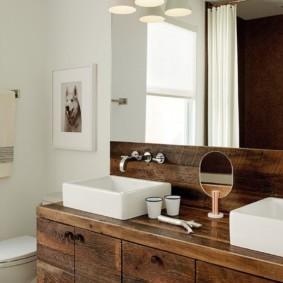 тумба для ванной идеи декор