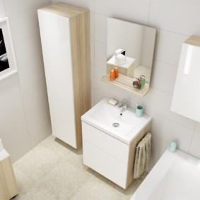 тумба для ванной интерьер идеи