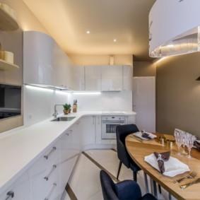 Закругленные фасады кухонного гарнитура