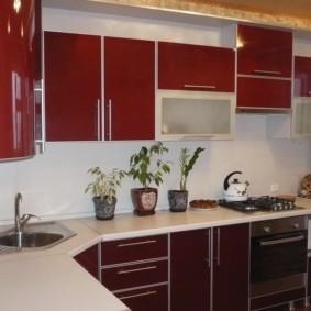 угловая кухня с мойкой в углу фото виды