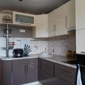 угловая кухня с мойкой в углу виды дизайна